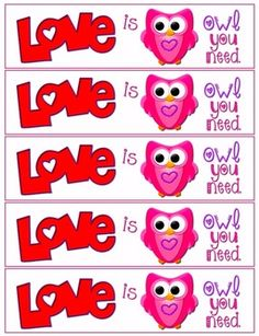 """""""Love is Owl You Need."""" FREE Owl Bookmarks for Valentine's Day"""