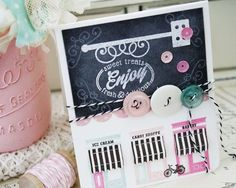 Enjoy Card by Melissa Phillips for Papertrey Ink (March 2015)