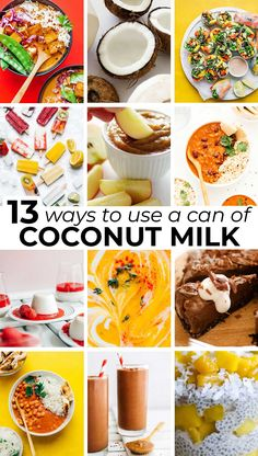 Give your favorite meal a spin with a can of coconut milk. It's versatile, heart-healthy, delicious, so much more. Whether you're in the mood for spring rolls, soup, or even chocolate cake, here are 13 recipes to use a can of coconut milk! #asianfood #coconut #healthyfat #vegetarian #thaifood #indianfood #curry Best Lunch Recipes, Best Breakfast Recipes, Vegetarian Recipes Dinner, Beef Recipes, Favorite Recipes, Dinner Recipes, Coconut Curry Vegetarian, Vegan Butternut Squash Soup, Coconut Milk Recipes