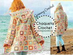 Patrones de Túnica de Abanicos Crochet Filet Crochet, Crochet Granny, Knit Crochet, Crochet Hats, Crochet Hoodie, Crochet Cardigan Pattern, Crochet Patterns, Crochet World, Sewing Projects