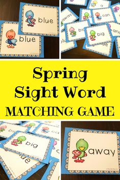 This Dolch Pre-Primer Spring Sight Words Matching Game is a perfect activity for literacy centers. The cards can be used as flash cards or as a matching game. The cards come in color and in black and white versions. While playing this matching game students practice reading their sight words. Th...
