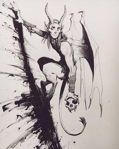 Dark Fantasy Art, Dark Art, Fantasy Character Design, Character Art, Art Sketches, Art Drawings, Creature Concept Art, Desenho Tattoo, Monster Art