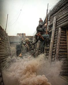 A descriptive look at the year 1914 in the First World War Military Diorama, Military Art, Military History, World War One, First World, Ww1 History, Ww1 Soldiers, German Army, Photoshop Design