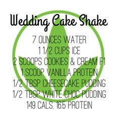 23 Protein Shake Recipes to Make You Lean & Strong Herbalife Wedding Cake Shake Recipe Herbalife Protein, Herbalife Shake Recipes, Protein Shake Recipes, Herbalife Nutrition, Isagenix, Protein Shakes, Herbalife Meals, Herbalife Plan, Herbalife Products