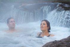 Kerosene Creek near Rotorua is a favourite hot spot for road-weary travellers in need of a soak.