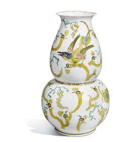 "Meissen - vase ""stylised flowers"", stylised flower painting after Börner"