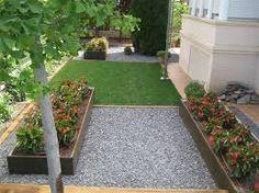resultado de imagen de jardines con grava a dos colores