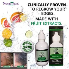 Restore damaged hairline edges with NouriTress Edge Repair Follicle Treatment Intensive Night Drops formulated with clinically proven ingredients to regrow your hair. Order at www.nouritress.com. #edgerepair