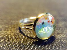 """Ringe - Cabochon-Ring """"Love"""" - ein Designerstück von Soulmate-Works bei DaWanda"""