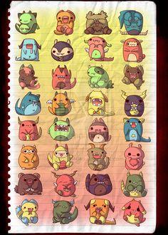 cute+little+monsters+by+michellescribbles.deviantart.com+on+@deviantART