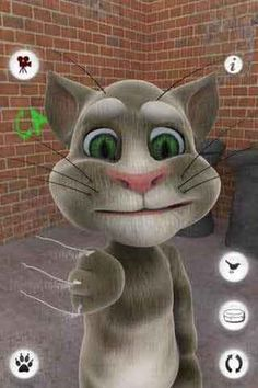 Talking Tom Cat on the App Store. Talking TOM will interact with your every move and repeat verbal commands. A great free iPhone game for children. Chores For Kids, Games For Kids, Talking Tom Cat, Cat Download, Happy Birthday Video, Black And White Photo Wall, Free To Use Images, Kim Possible, Tier Fotos