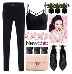 """Newchic"" by jiabao-krohn ❤ liked on Polyvore featuring Yves Saint Laurent, Etude House and NARS Cosmetics"