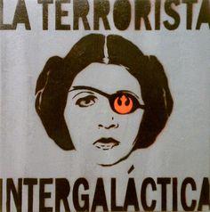 LA TERRORISTA: Princess Leia Star Wars Revolutionary Rebel Princess Original Canvas