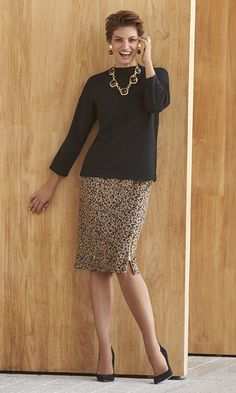 Black Label - The Leopard Skirt Suede + Leopard + Chic Zippers = A must-have pencil skirt that easily translates from work to play.
