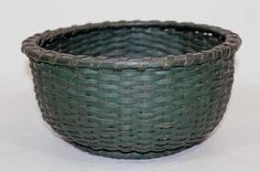 c. 1900 Original green paint. 11 in diameter x 5.25 in tall  Country Treasures  www.mycountrytreasures.com