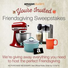 Win over $2,200 to host the perfect Friendsgiving!