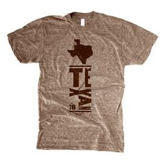 Texas Tee Men's Tri-Coffee, $23, now featured on Fab.