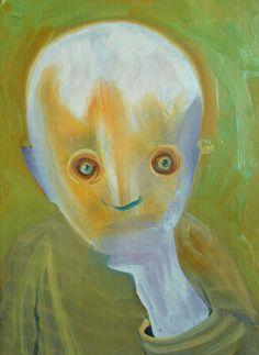 """Saatchi Online Artist: Benjamin Bridges; Oil, 2013, Painting """"Moss"""""""