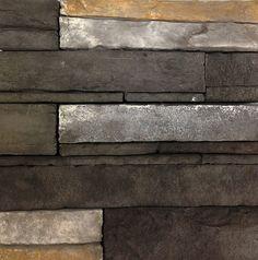 Dry Stack Ledge (Color: Black Diamond) www.KodiakMountain.com Kodiak Mountain Stone Black Diamond, Hardwood Floors, Color Black, Mountain, Cabin, Texture, Stone, Wood Floor Tiles, Cabins
