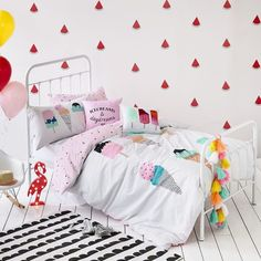 Adairs Kids Ice Creams and Daydreams Quilt Cover Set, kids quilt covers, kids doona covers