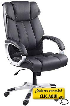 Venta Stock Confort - Sillón de oficina, piel sintética, color negro #sillon #oficina