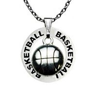 Basketball Ring and Basketball Charm Necklace by First String Jewelry