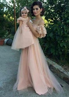 s Clothing Children' Mom Daughter Matching Outfits, Mommy Daughter Dresses, Mom And Baby Outfits, Mother Daughter Fashion, Kids Outfits, Baby Dress Design, Baby Girl Dress Patterns, Fashion Kids, Girl Fashion
