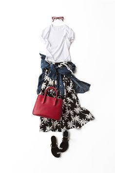 今、私が着たいプリントのスタイル 2015-07-01| skirt brand :no name (? brand : MELLOUNGE )