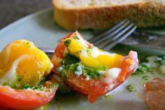 romaine pesto and egg-stuffed tomatoes | smittenkitchen.com