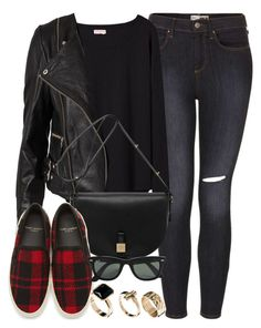 """Style #5503"" by vany-alvarado ❤ liked on Polyvore featuring Topshop, Organic by John Patrick, Gestuz, Mulberry, Yves Saint Laurent, Ray-Ban and New Look"