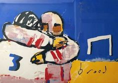 Herman Brood, American football  93 x 123