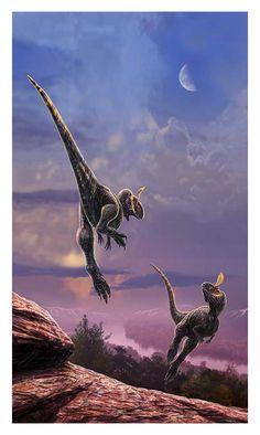 Fighting Cryolophosaurus by dustdevil.deviantart.com on @deviantART