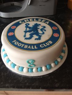 Chelsea football cake (Mum & N's groom cake?)