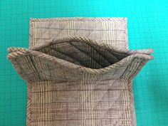 How to Sew Plain Quilted Wallet. DIY Photo Sewing Tutorial. This would be a good project for Anita Goodesigns quilted blocks.