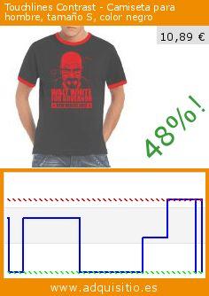 Touchlines Contrast - Camiseta para hombre, tamaño S, color negro (Sports Apparel). Baja 48%! Precio actual 10,89 €, el precio anterior fue de 21,09 €. http://www.adquisitio.es/touchlines/contrast-camiseta-hombre-148
