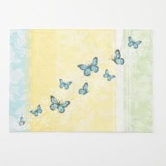 SONOMA life + style Butterfly Placemat :: Printed with embroidery