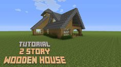 Minecraft - How to build a 2 Story Wooden House (Version 3) - Tutorial