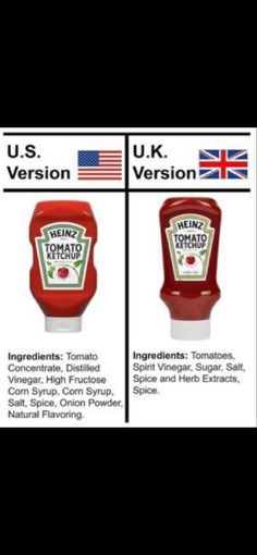 🇺🇸vs🇬🇧 Spices And Herbs, Corn Syrup, Ketchup, Vinegar, British, Usa, Food, Essen, Meals