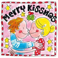 Verlief koppel kust elkaar een fijne Kerstmis- Greetz