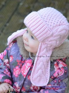 Knitting Pattern - Winterberry Earflap Hat (From Toddler to Child sizes)