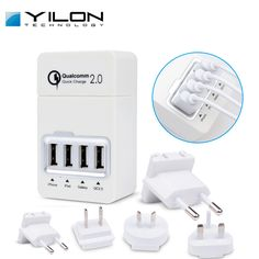 Find More Chargers & Docks Information about 4 Port 2.0 Quick Charging USB Wall Charger With Changeable Plug Smart Car charger For Iphone Samsung Phone Charging Accessories,High Quality charger bank,China charger auto Suppliers, Cheap charger for samsung mp3 player from Shenzhen YILON Technology Co., Ltd on Aliexpress.com