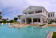 #insane pools #celine dion #florida celine dion's waterpark house with two pools and a lazy river.