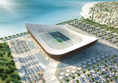 The design for this stadium is derived from the traditional fishing boats in the Gulf. Once the tournament comes to an end, its World Cup capacity of 45,000 fans will be reduced to 25,000.