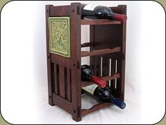 Mission Style 8-Bottle Wine Rack (Tiles sold separately)