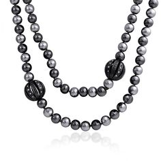 Bling Jewelry Pearls Night Out ($8.99) ❤ liked on Polyvore featuring jewelry, necklaces, black, necklaces pendants, pearl-strands, pearl jewelry, white pearl pendant necklace, pendant jewelry, christmas necklace and pearl necklace