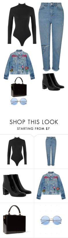 """""""Untitled #445"""" by xoxotiffvni on Polyvore featuring Alaïa, Miss Selfridge, Yves Saint Laurent, Gucci and Dolce&Gabbana"""