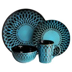 Naples Dinnerware - I think I need new dinnerware - want turquoise and brown or turquoise and black.