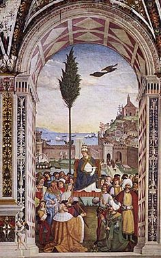 Pope Pius II Reaches Ancona to Hasten The Crusade.  Despite his illness, Pope Pius II reached Ancona on the 18th June 1464 to wait for the Venetian fleet that would join the Crusade against the Turks.