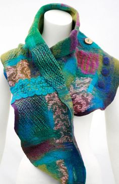 Vibrant Patchwork Shawl or Patchwork Vest with Katia Mokeyeva from the USA