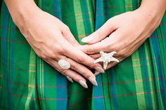 An Ariel-inspired manicure. #wedding  Photos by Mark Brooke Photography and Mathieu Photo